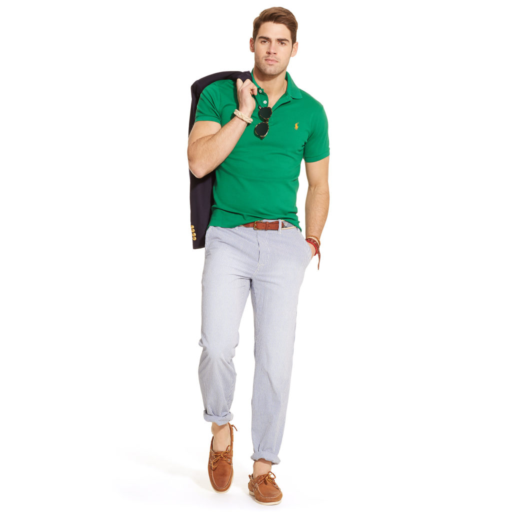 Green Polo White Pant