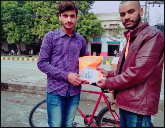 Daraz Seller Stories [Feb-2019] Delivery Packages on Bicycle