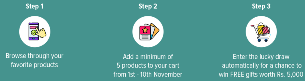 Daraz add to cart and win