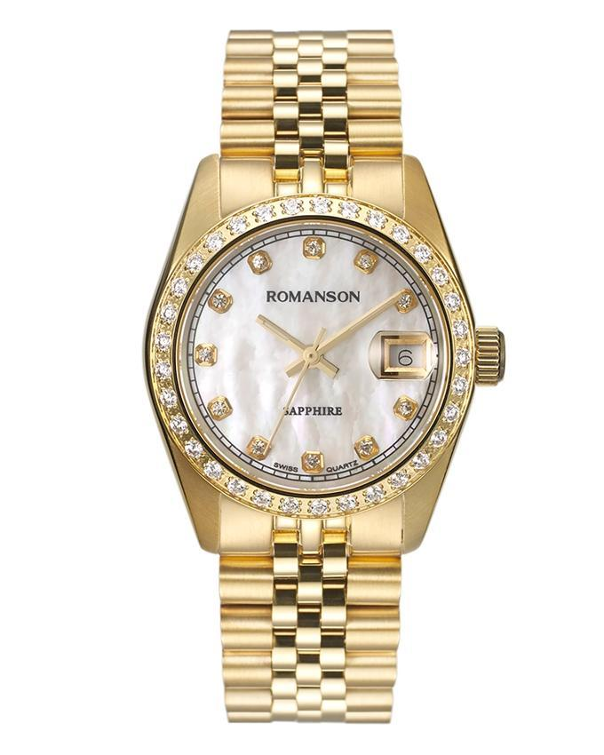 Romanson Gold Stainless Steel Wrist Watch