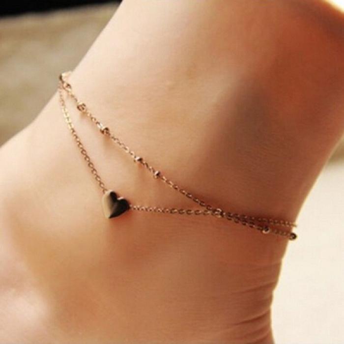 Heart Ankle Bracelet