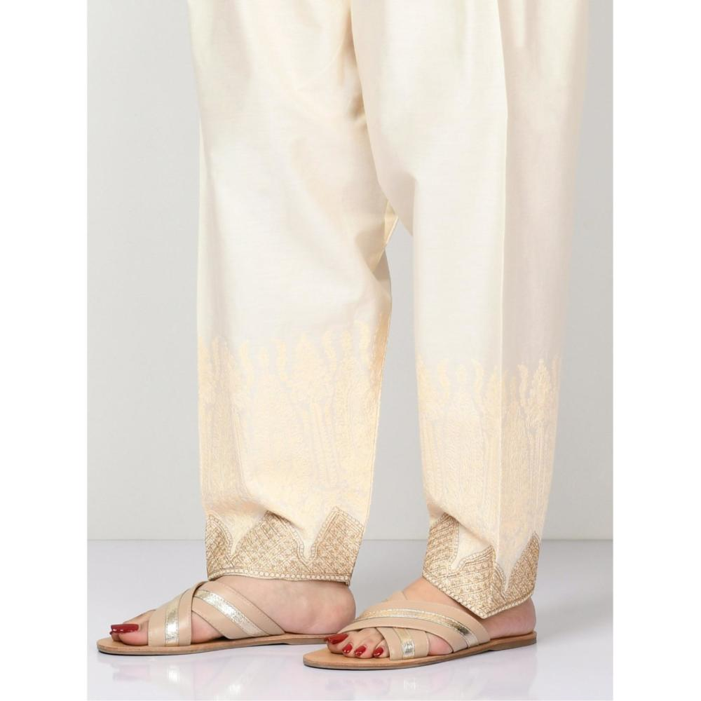 LimeLight Embroidered Cambric Shalwar