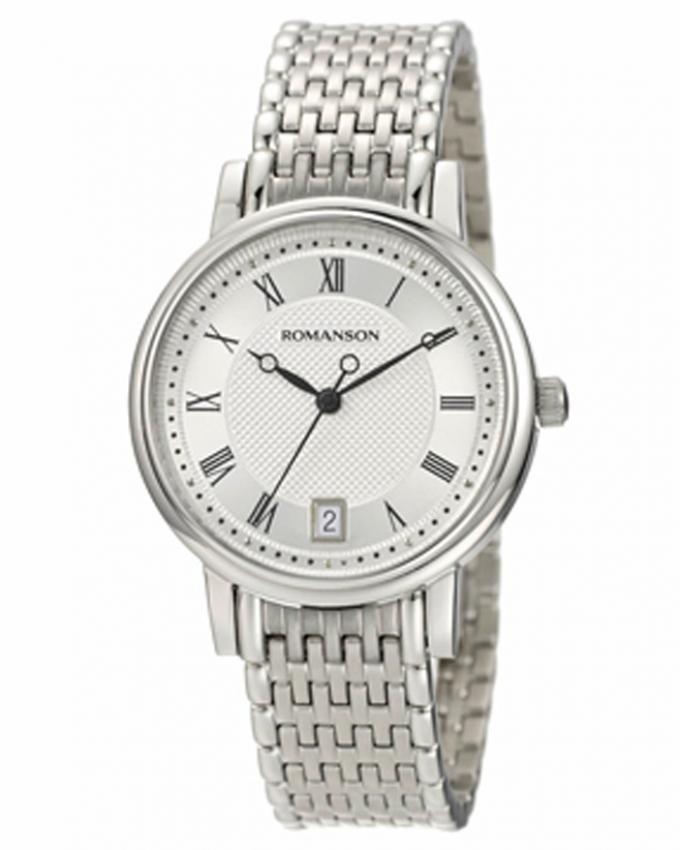 Romanson Silver Stainless Steel Wrist Watch