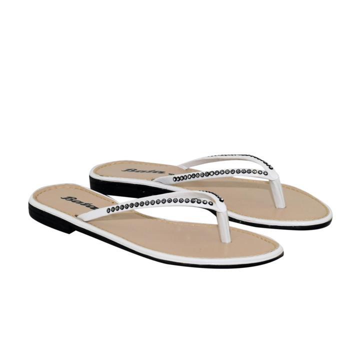 White Formal Slippers