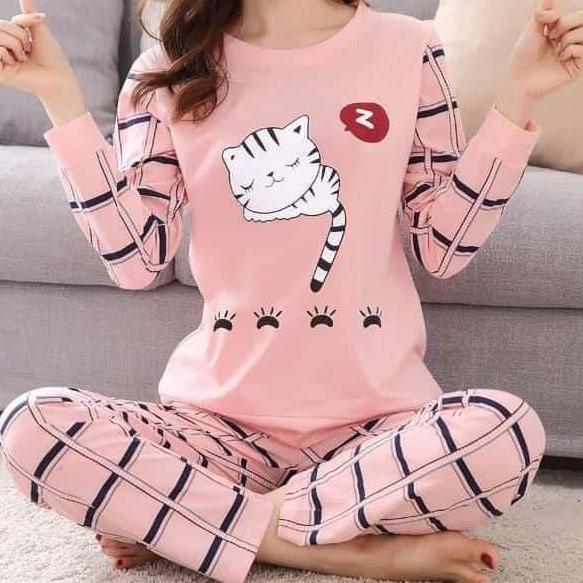 Sleepy Cat Pajama Set