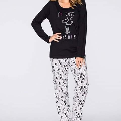 Cute Kitty Pajama Set