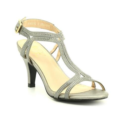 Silver Formal Kitten Heels