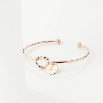 Heart Knot Alphabet Bracelet