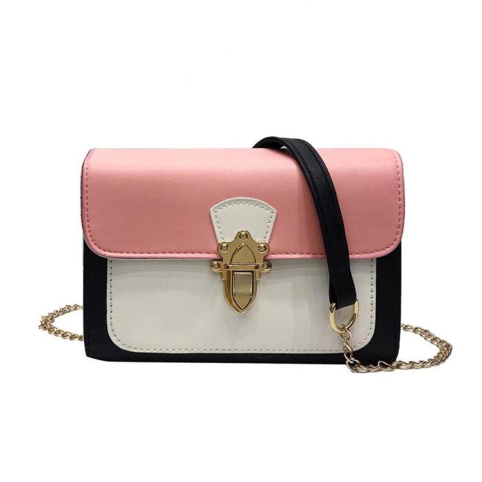 Pink and white crossbody