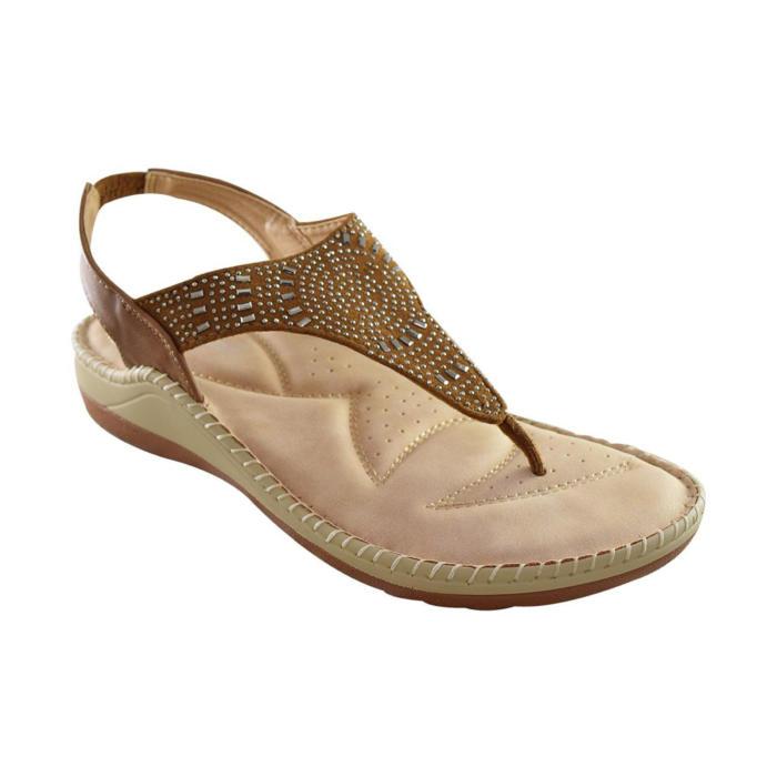 Brown Comfy Sandals
