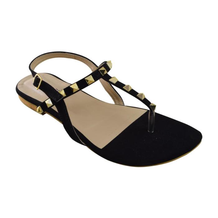 Studded Black Sandals