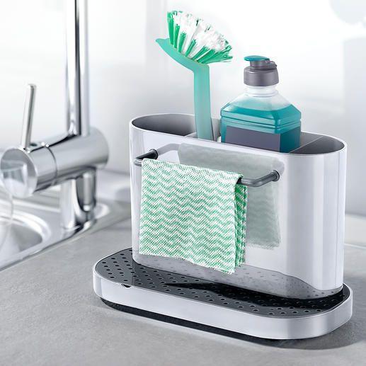 Sink Organizer with Cloth Rack